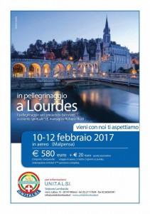 Pellegrinaggio Lourdes febbraio 2017